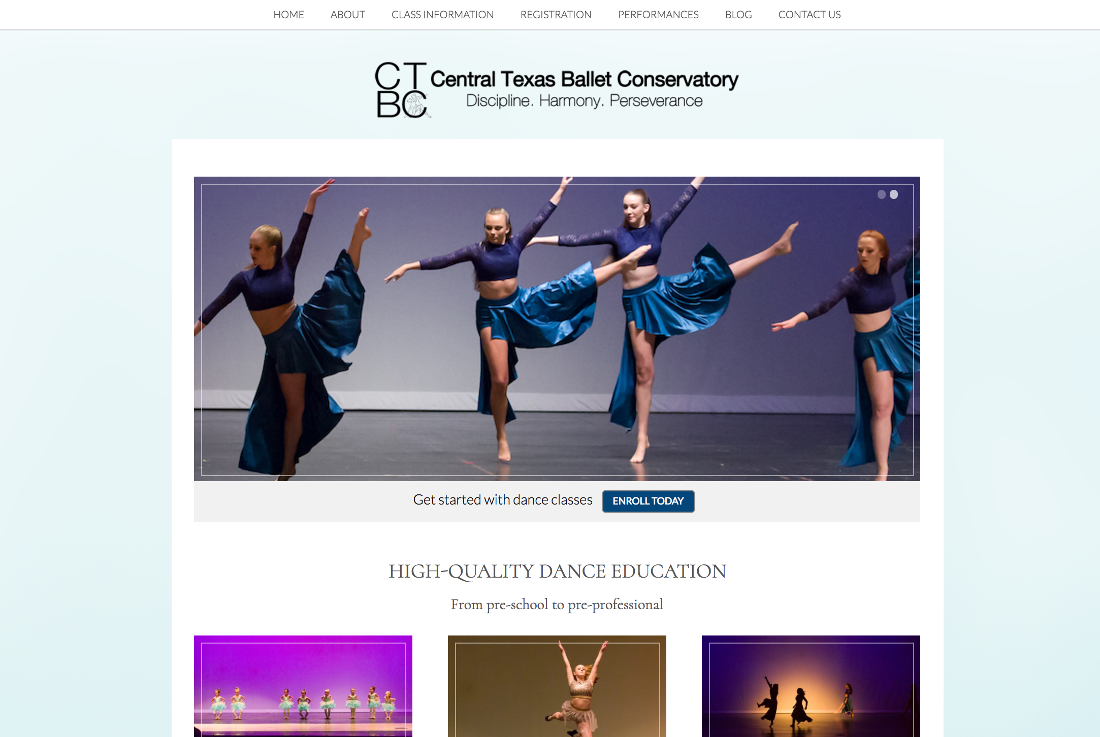 Picture of Central Texas Ballet Conservatory's homepage